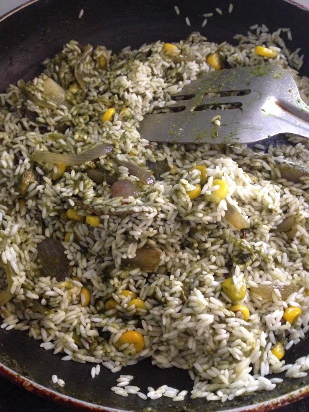 Sweet Corm palak Biryani3